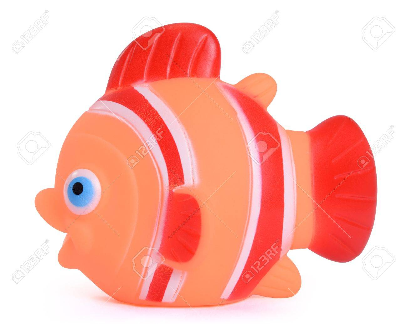 Orange Rubber Fish Toy For Bathtub Stock Photo, Picture And Royalty ...