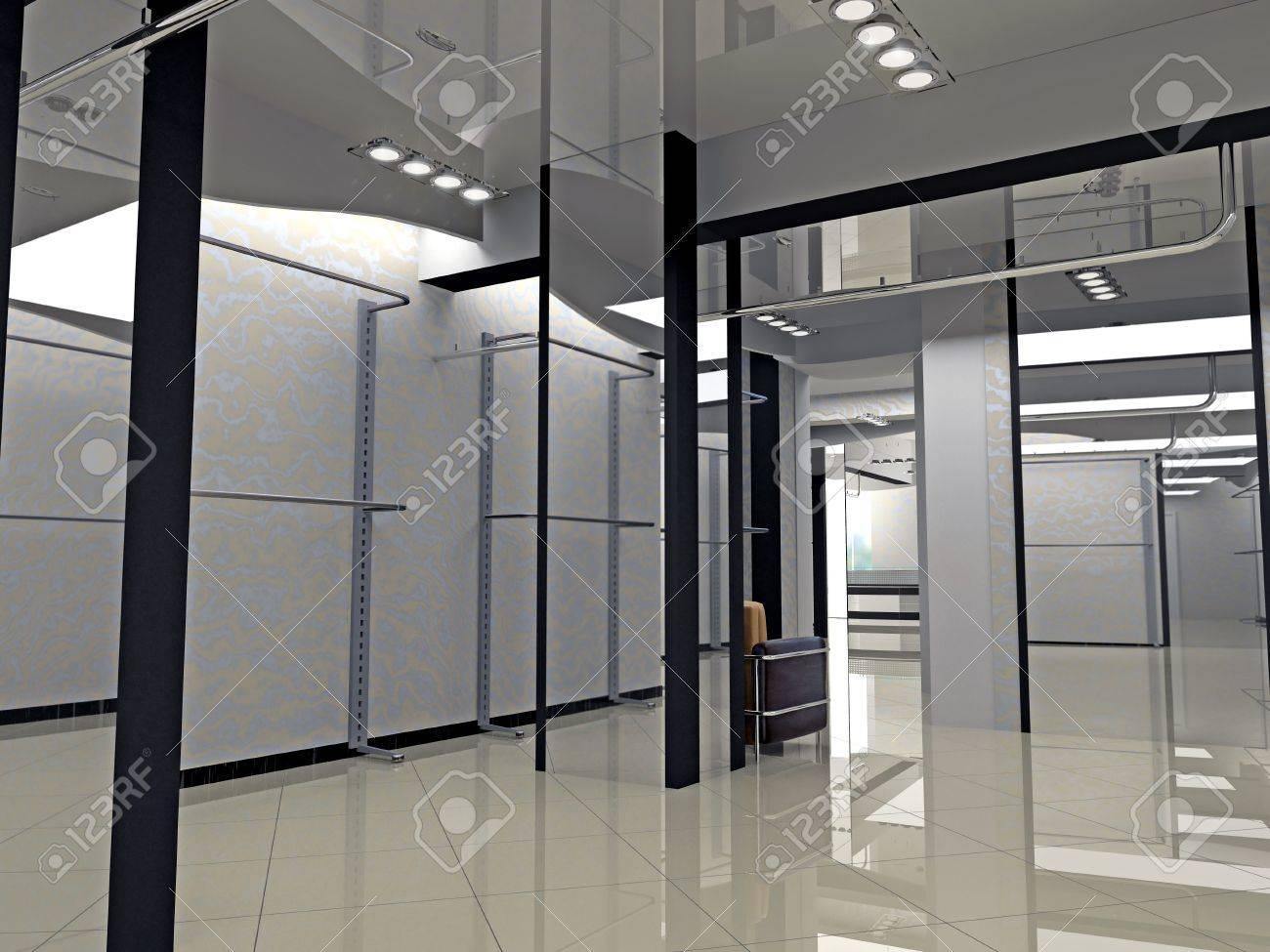 Modern Shop Interior Design (computer-generated Image) Stock Photo ...