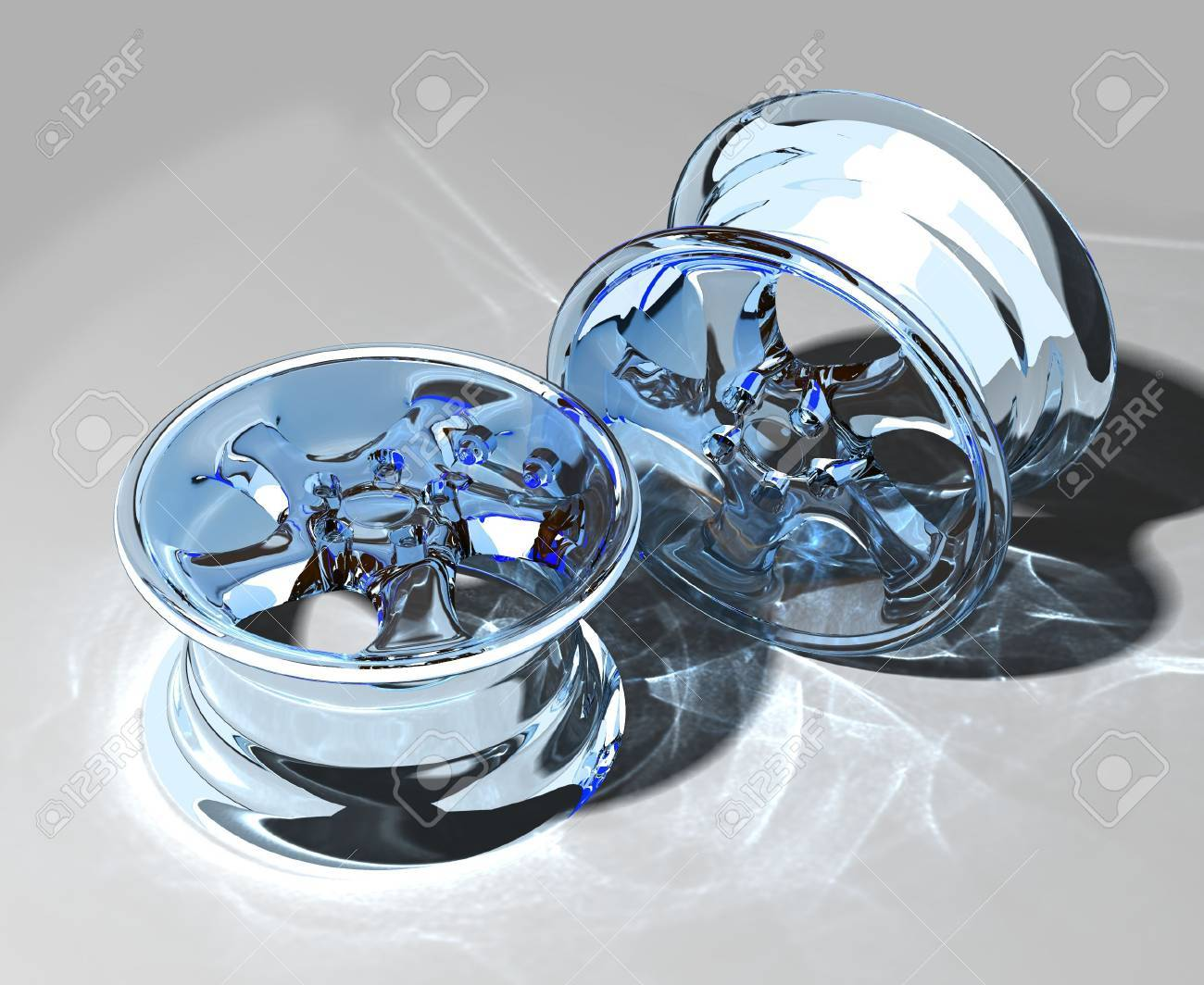close-up glass car rim over the white background Stock Photo - 909541