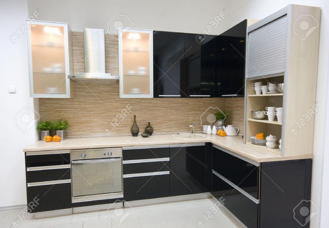 the modern kitchen interior design photo Stock Photo - 1860396