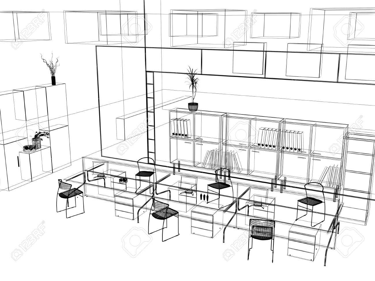 Interior Design Office Sketches brilliant interior design office sketches perspective black and