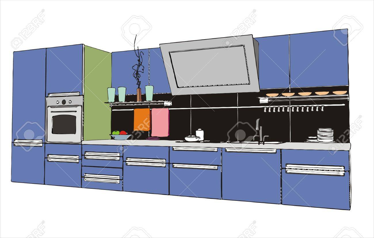 Modern Kitchen Interior Modern Kitchen Interior Vector Image Royalty Free Cliparts