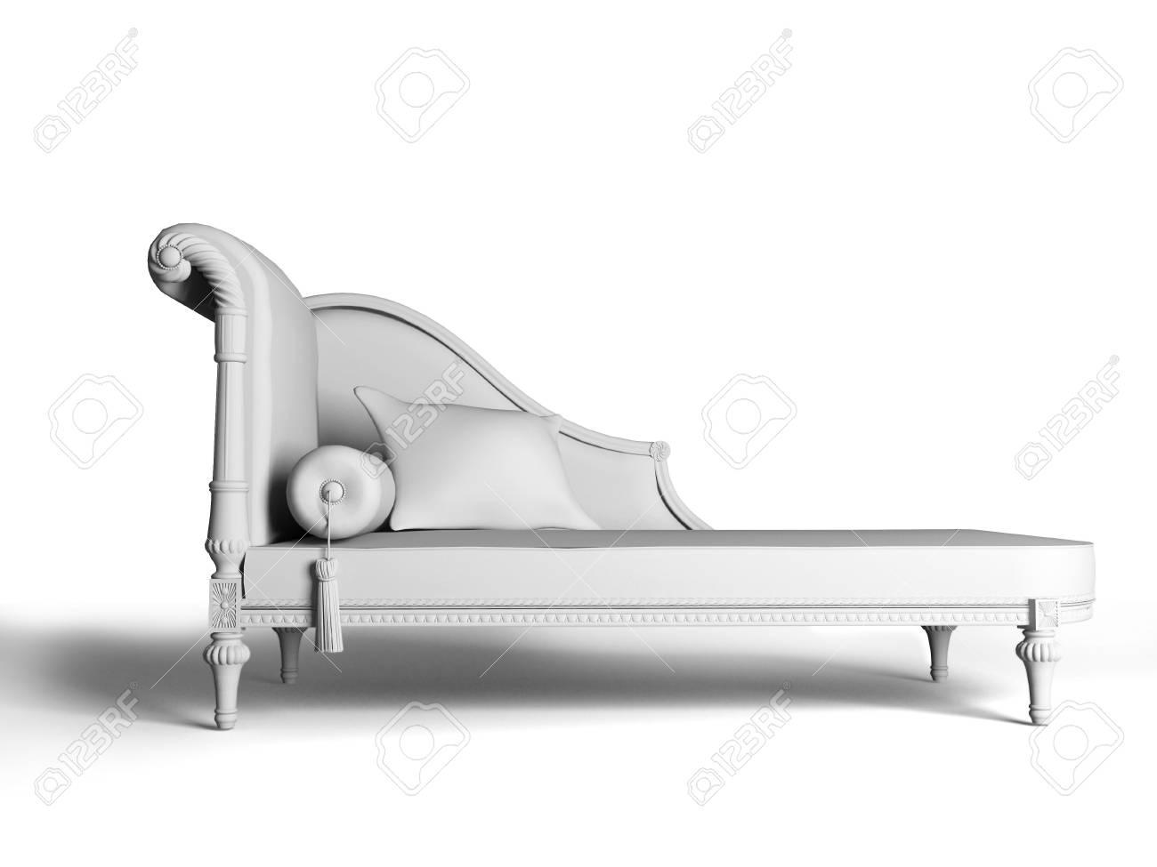 isolated classic sofa interior (3d rendering image) Stock Photo - 2532113