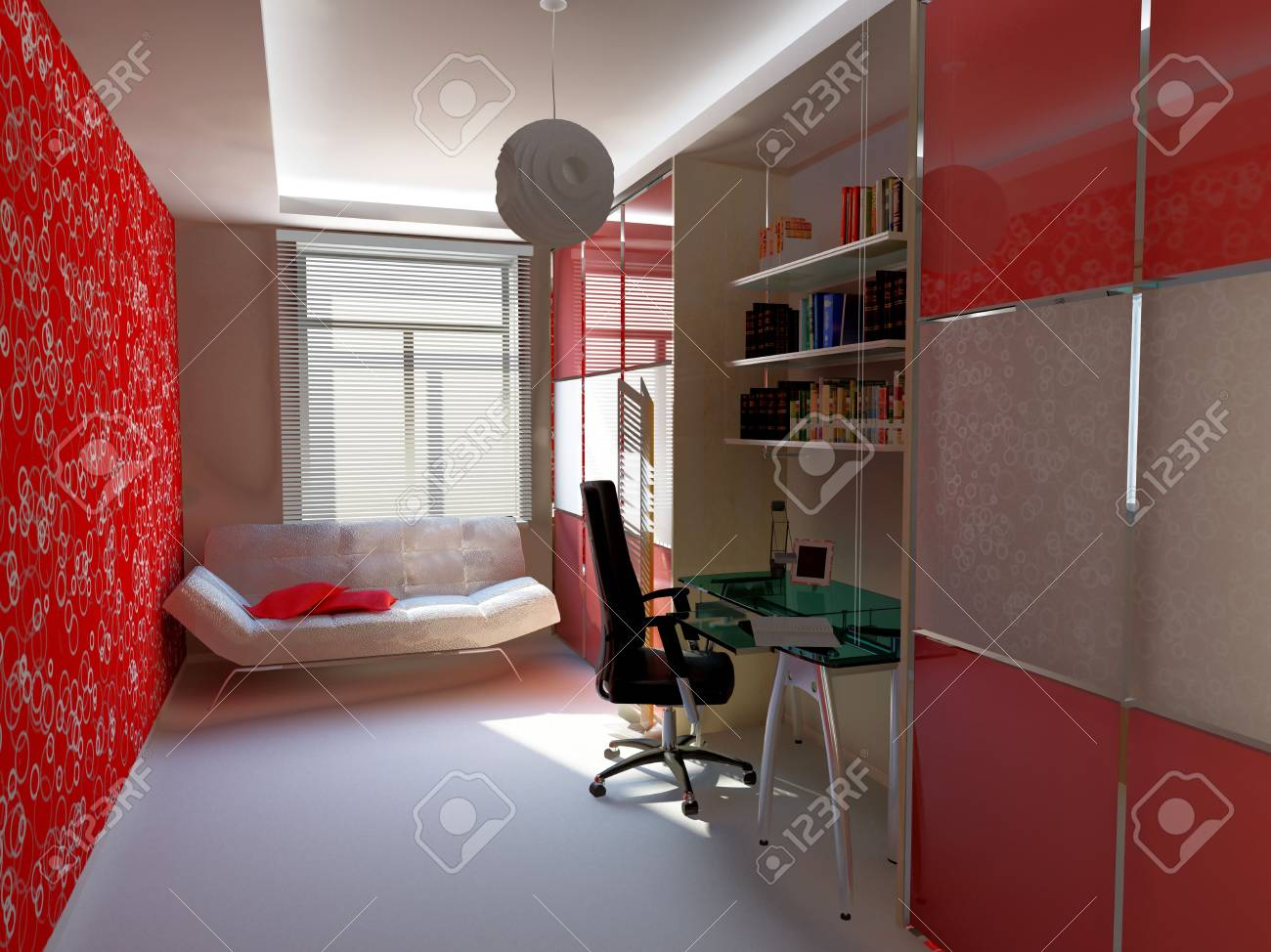 modern home interior (3D rendering) Stock Photo - 3119065