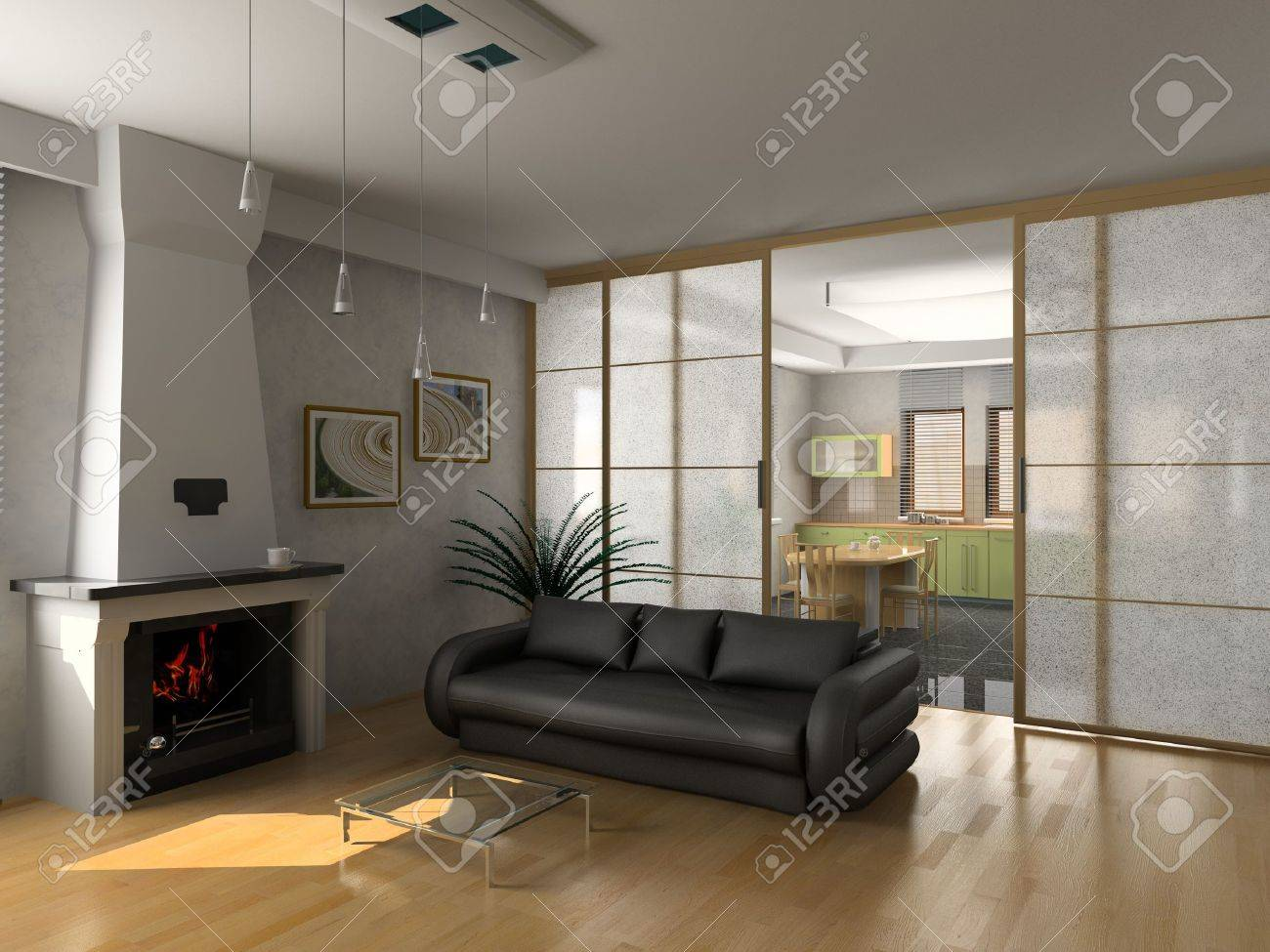 Modern Luxury Living Room Modern Luxury Living Room 3d Stock Photo Picture And Royalty