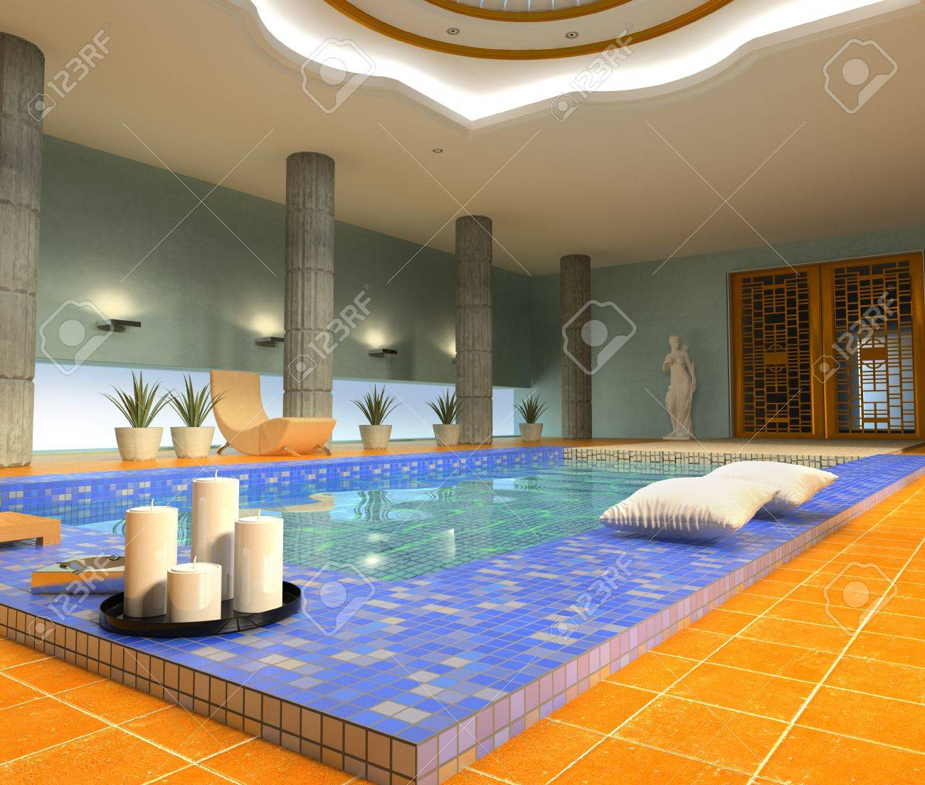 Modern Luxury Spa Interior 3d Rendering Stock Photo Picture And