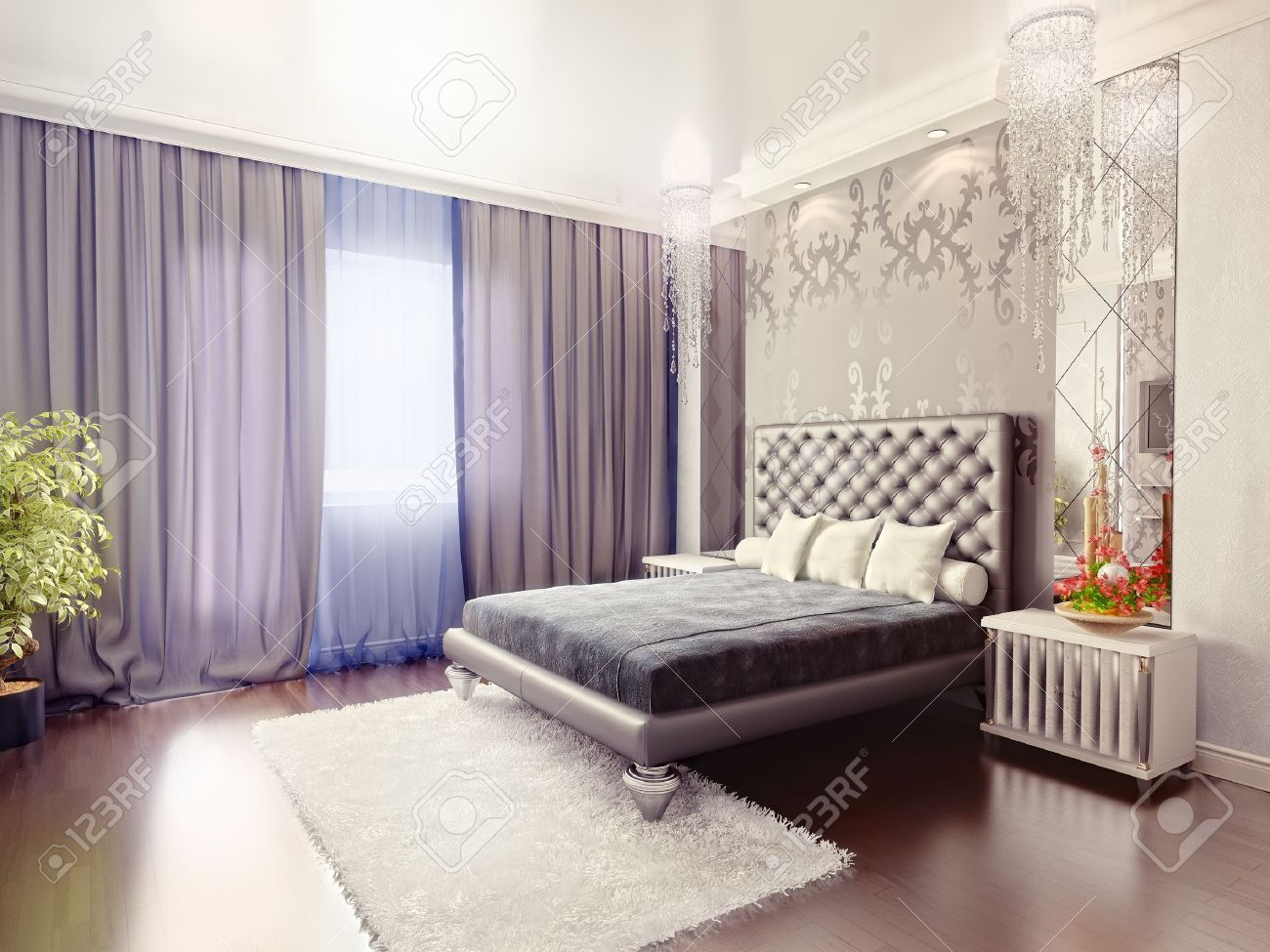 Modern Luxury Bedrooms Modern Luxury Bedroom Interior 3d Rendering Stock Photo Picture