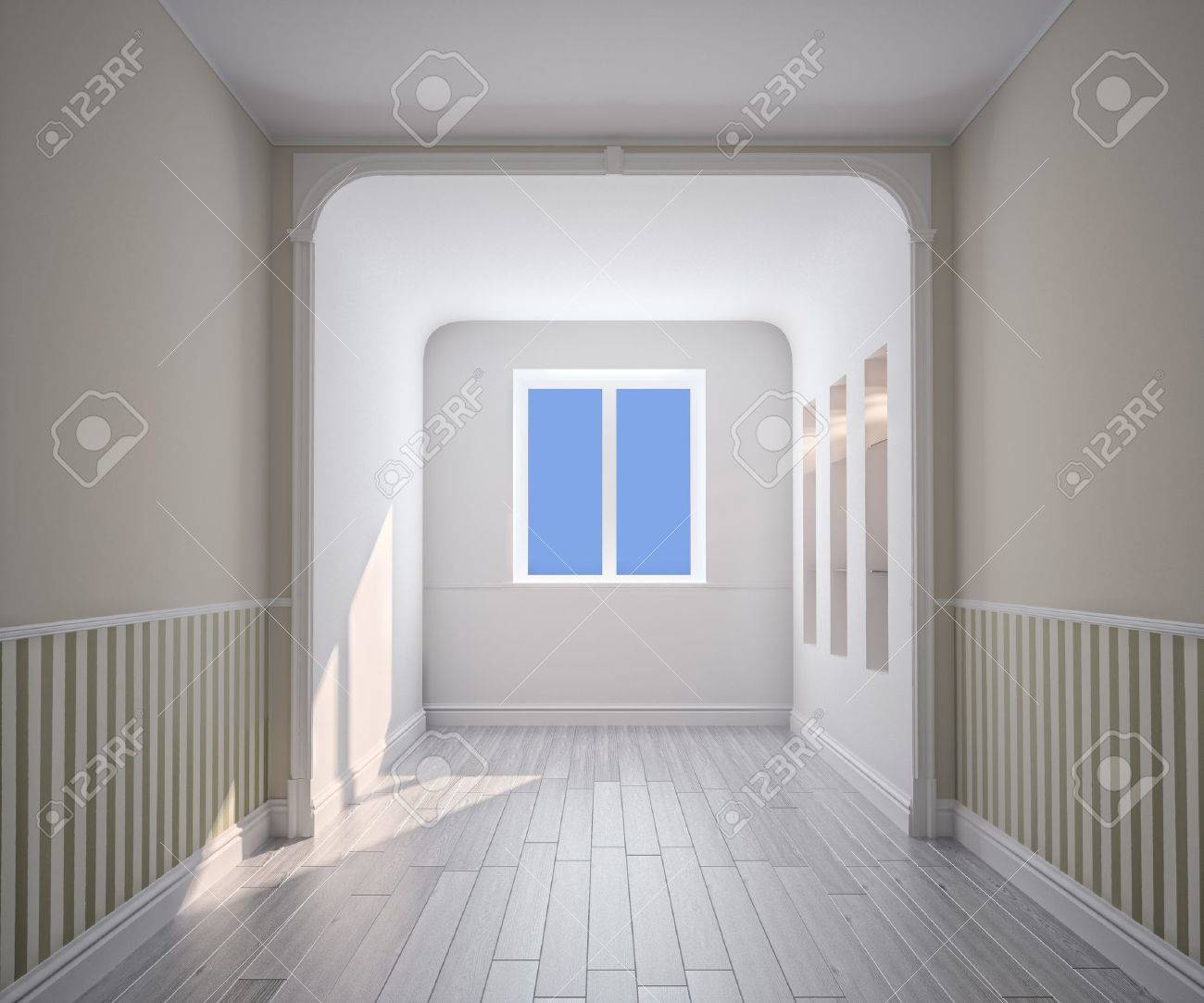 empty room interior (computer generated image) Stock Photo - 9862993