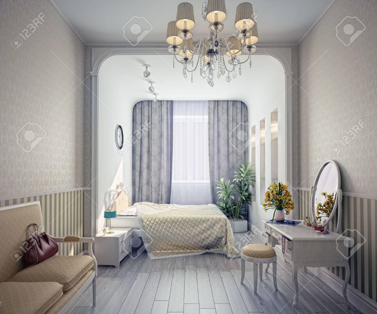 Intérieur De Chambre De Luxe Moderne (rendu 3D) Banque D\'Images Et ...
