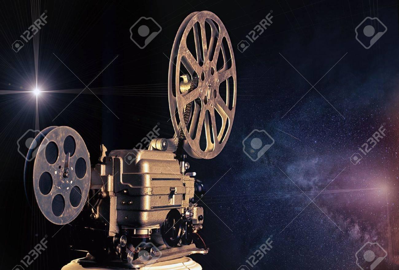 cinema - machine of dreams  illustrated concept Stock Photo - 15042470