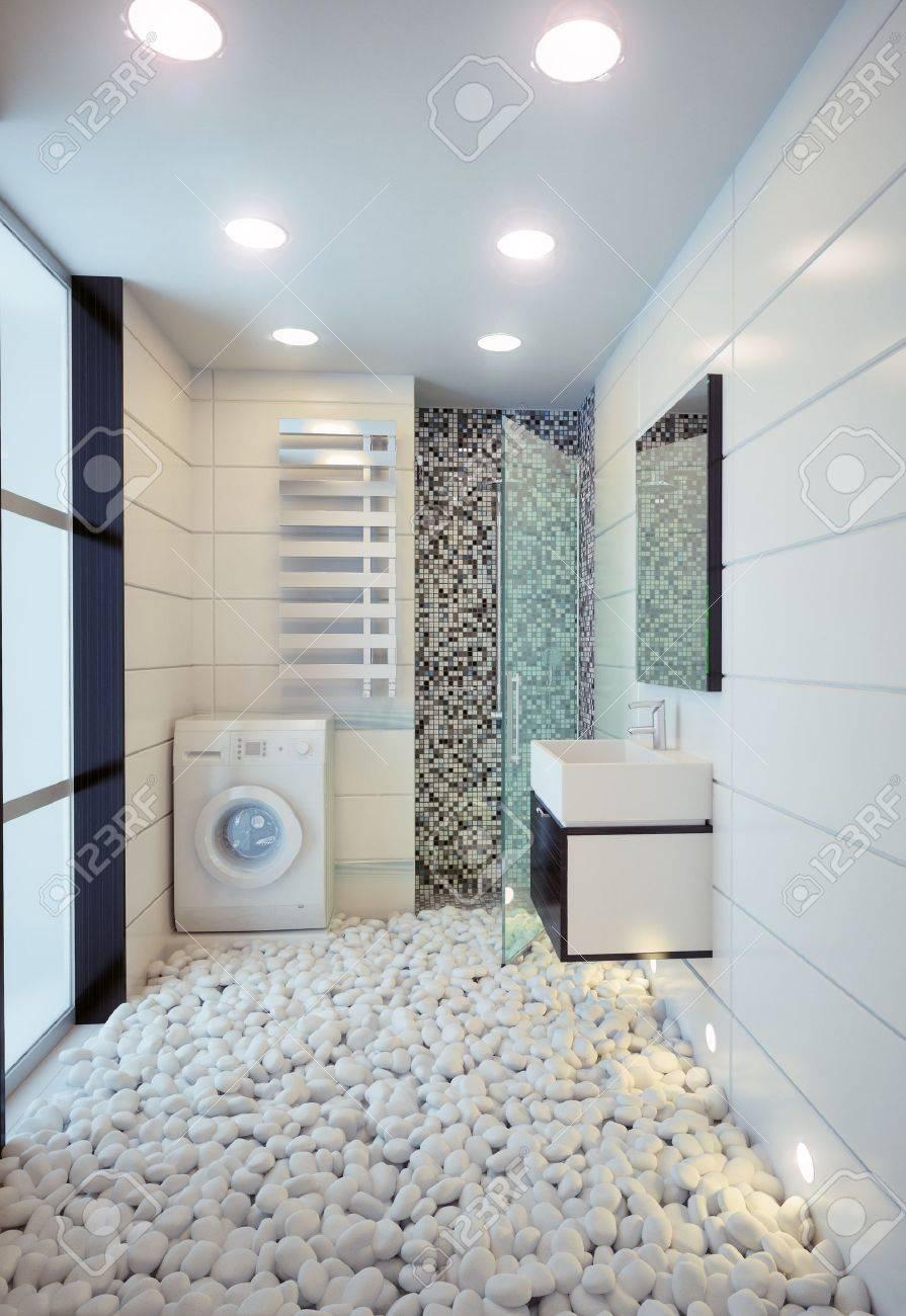 Cuarto de baño moderno concepto de ilustración