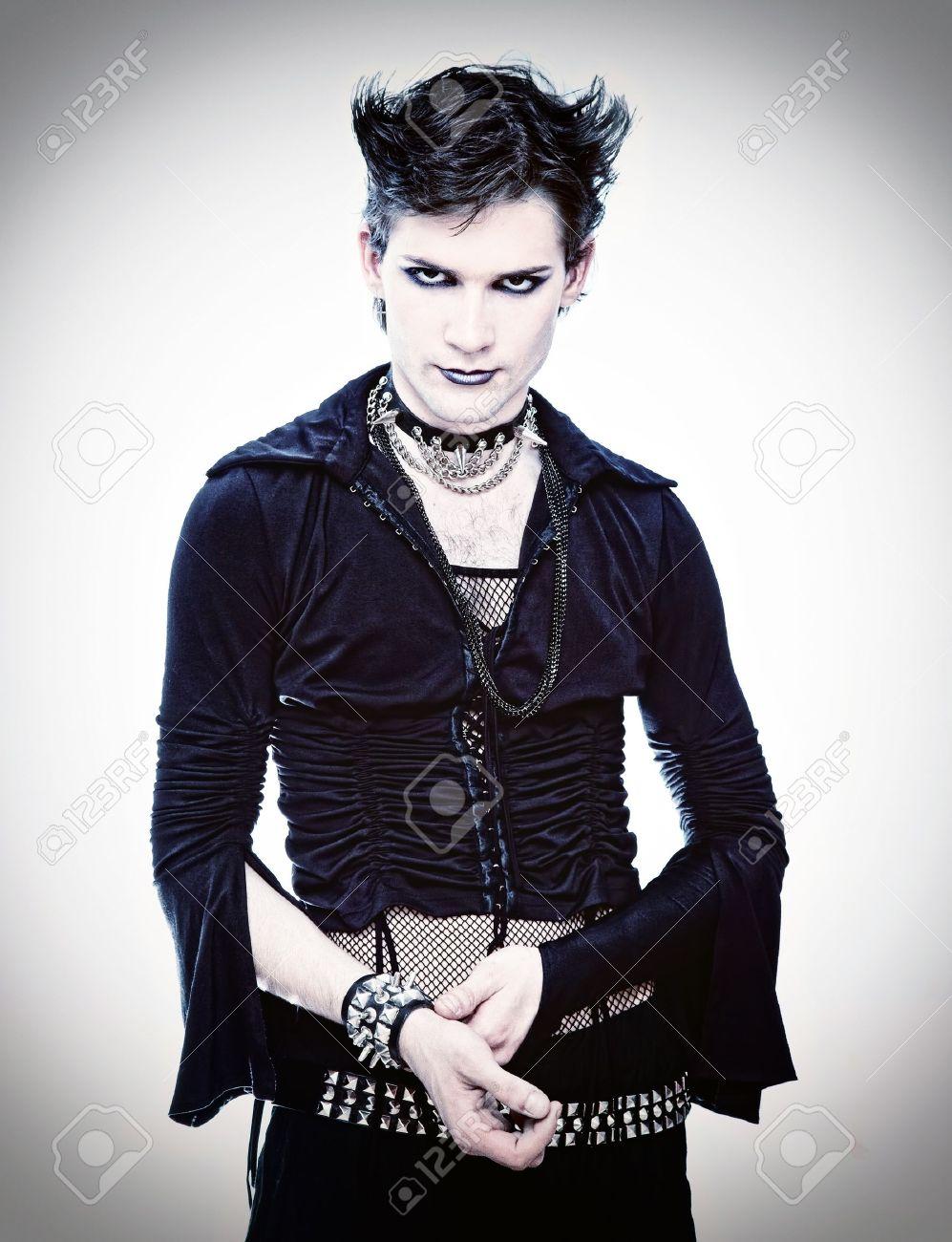goth-style man in black dress Stock Photo - 16167158