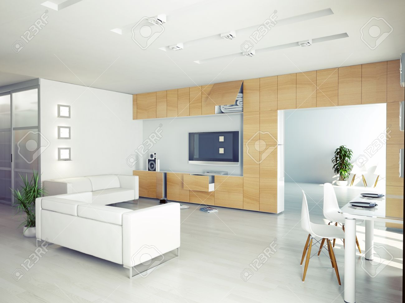Interieur Moderne Salon Concept Contemporain