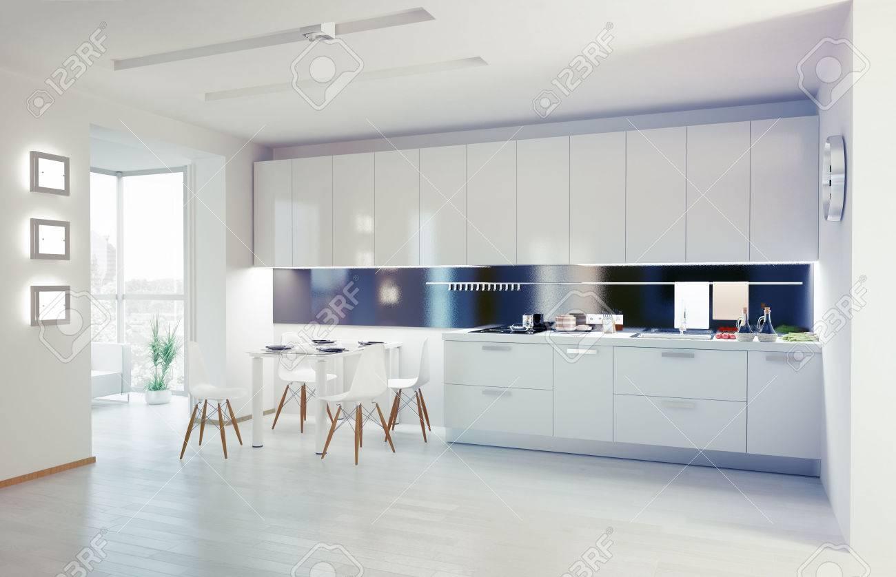 Moderne Küche Interieur-Konzept Lizenzfreie Fotos, Bilder Und Stock ...