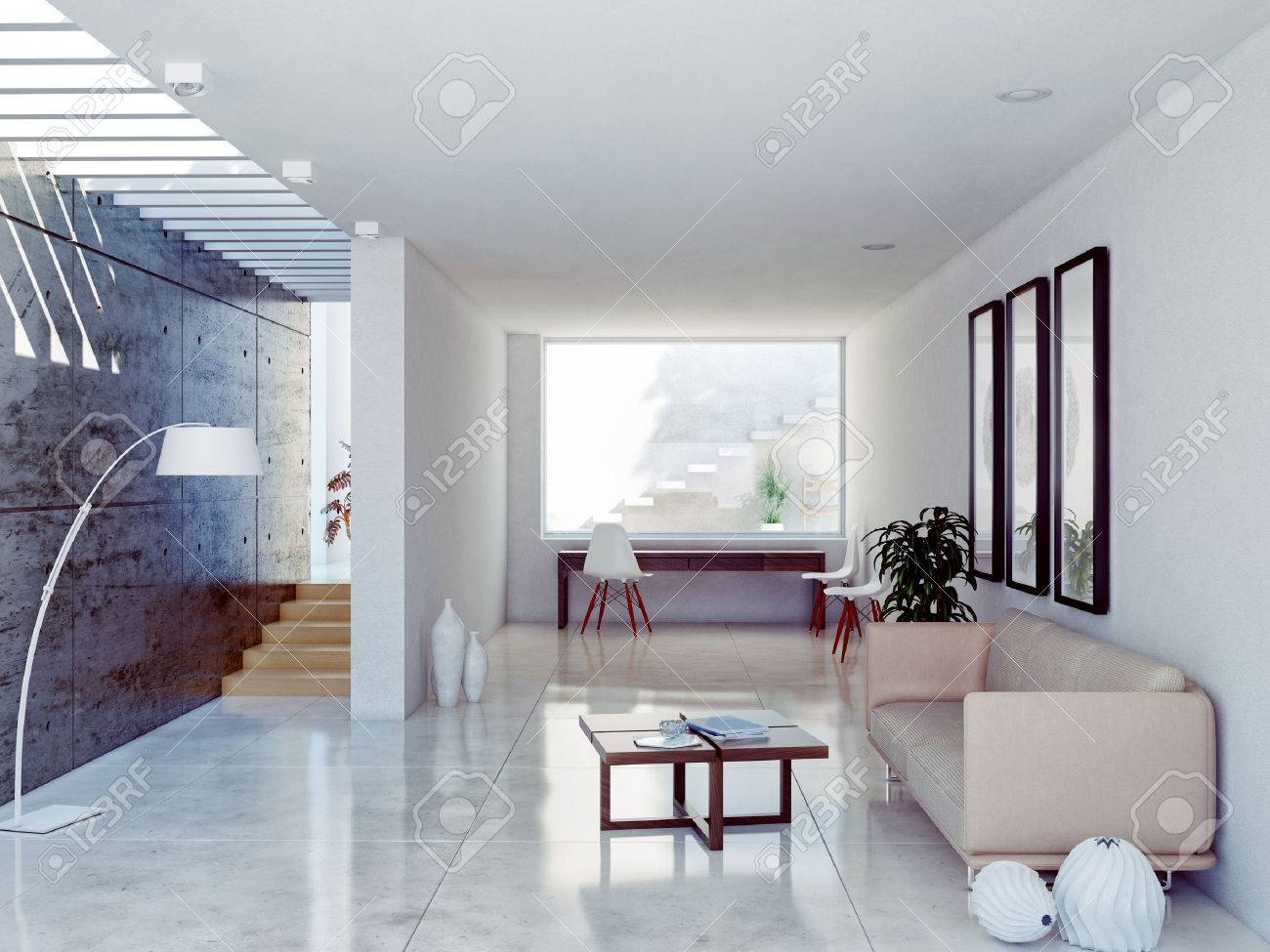 Modern Living Room Interior. Contemporary Concept Stock Photo ...