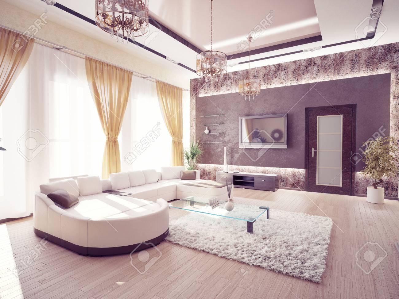 Salon moderne design d'intérieur banque d'images et photos libres ...