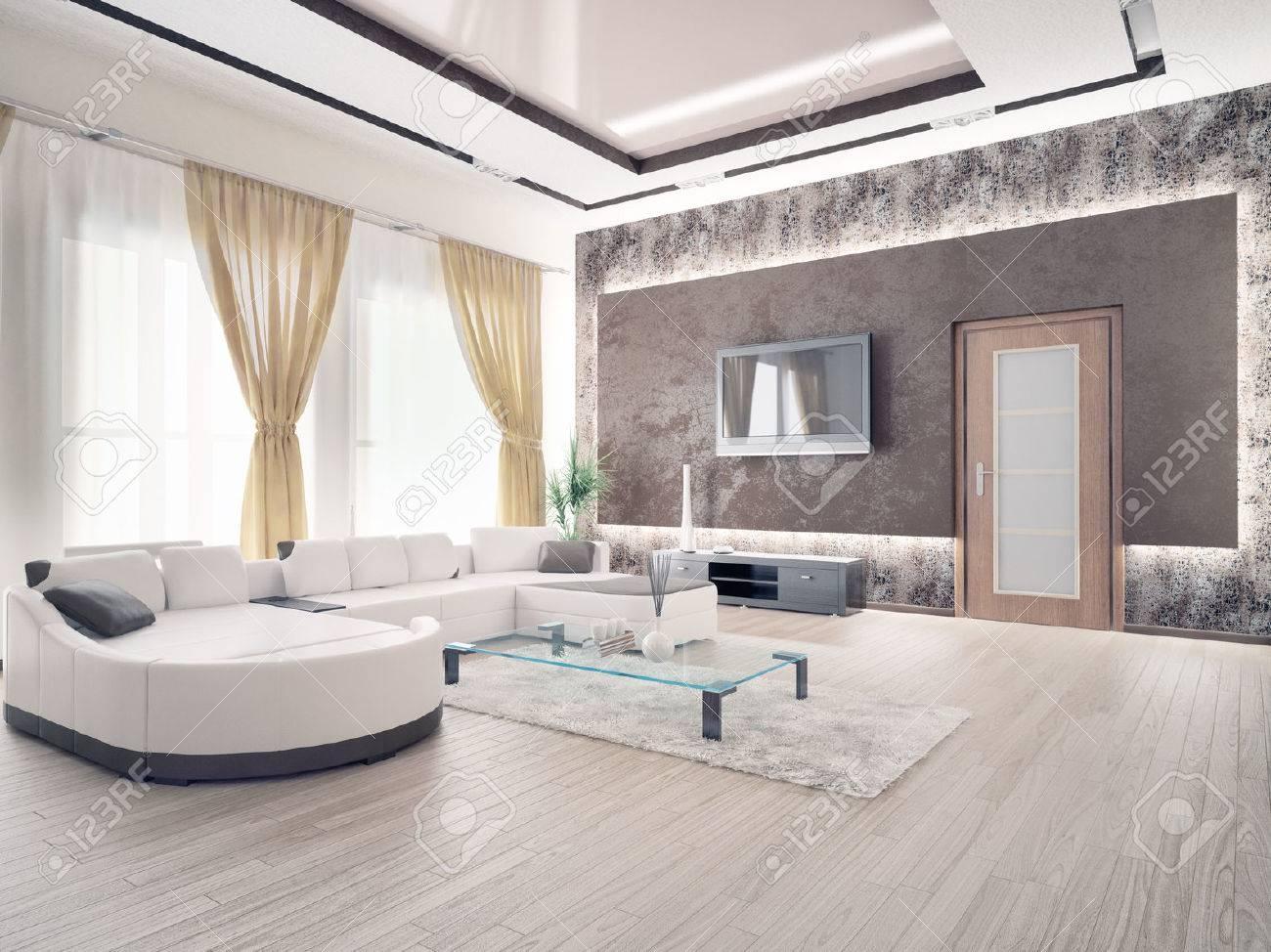 Innenraumdesign  Modernen Wohnzimmer Innenraum-Design Lizenzfreie Fotos, Bilder Und ...