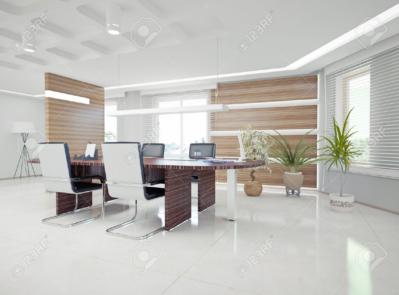 Modern Office Interior Design Concept Stock Photo