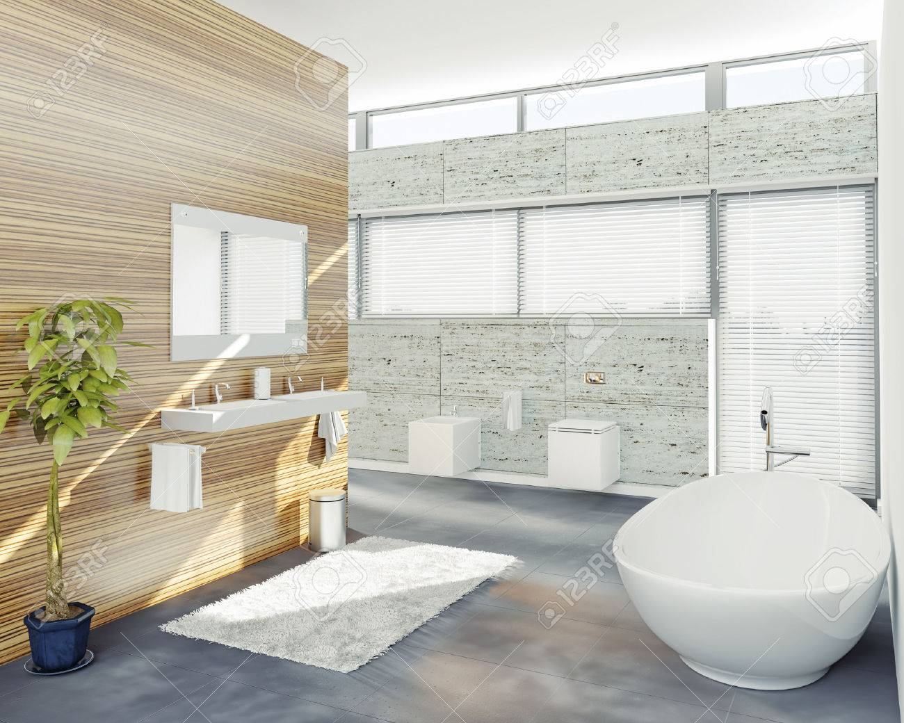Modern Bathroom Design (3D Concept) Stock Photo, Picture And Royalty ...