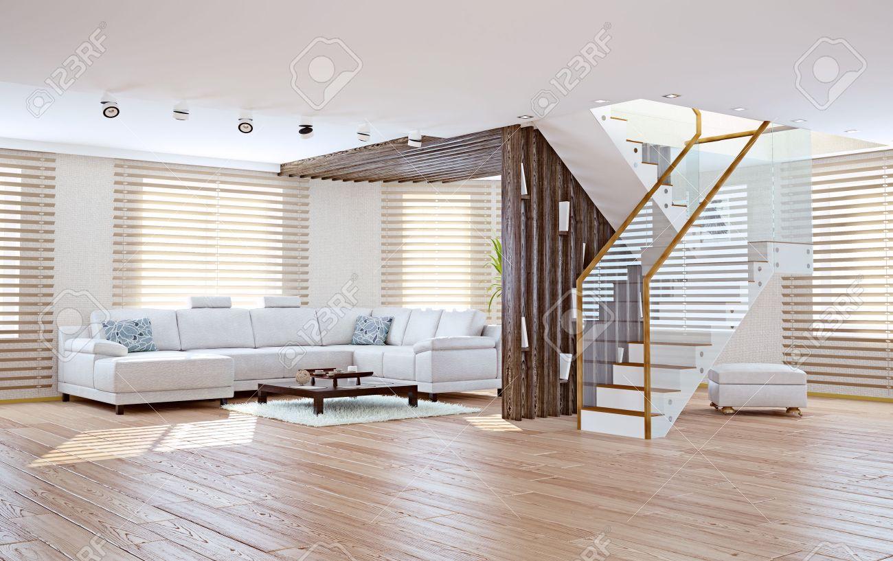 Moderne Salon Intérieur. Concept De Design Contemporain Banque D ...