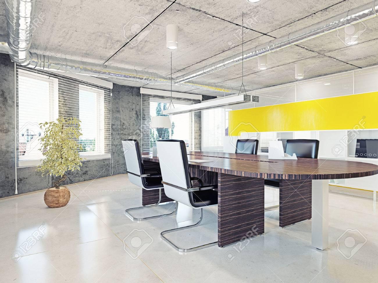Hochwertig Moderne Büro Interieur. 3D Illustration Design Konzept Standard Bild    34132453