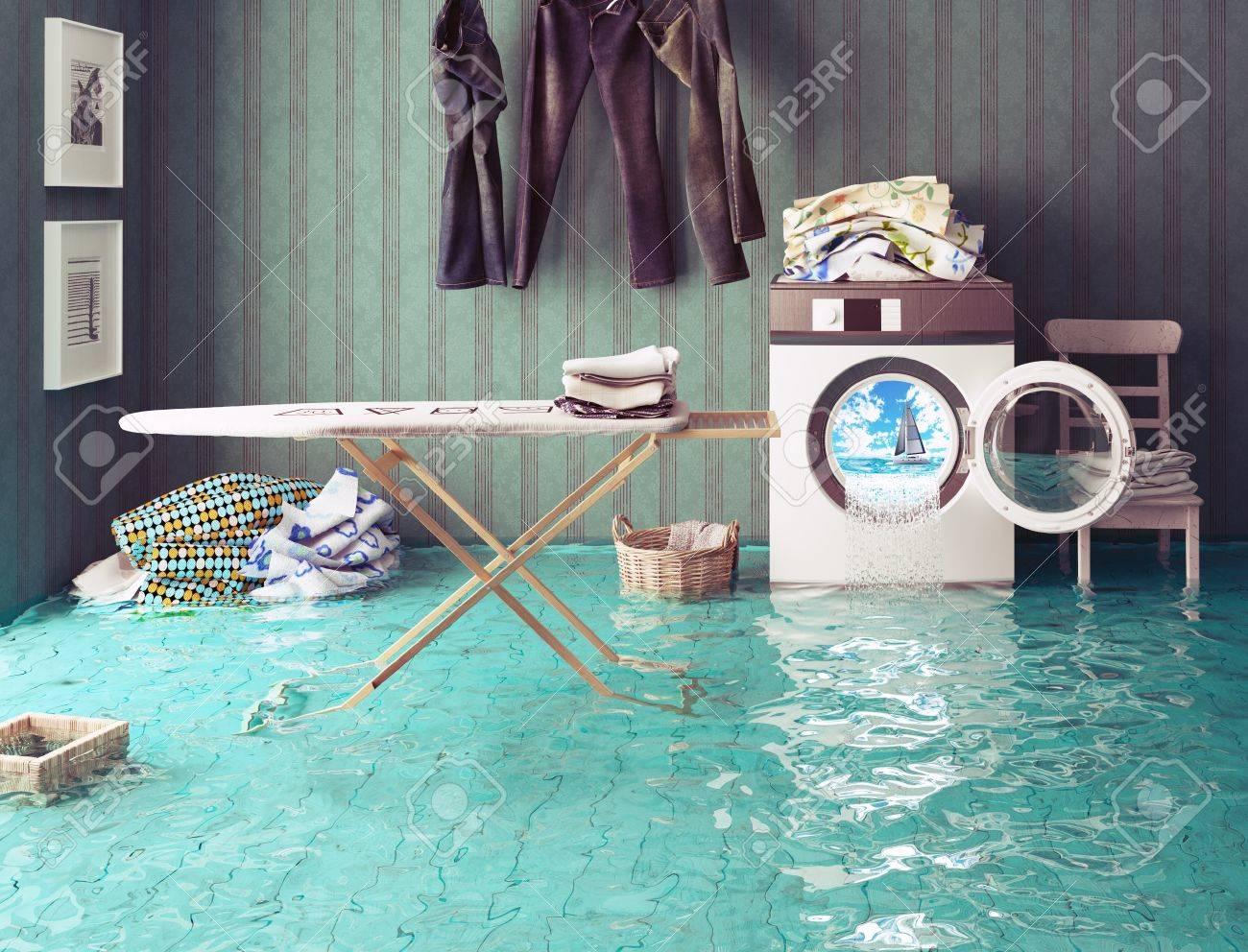 housework dreams. 3d Creative concept. Standard-Bild - 44926040