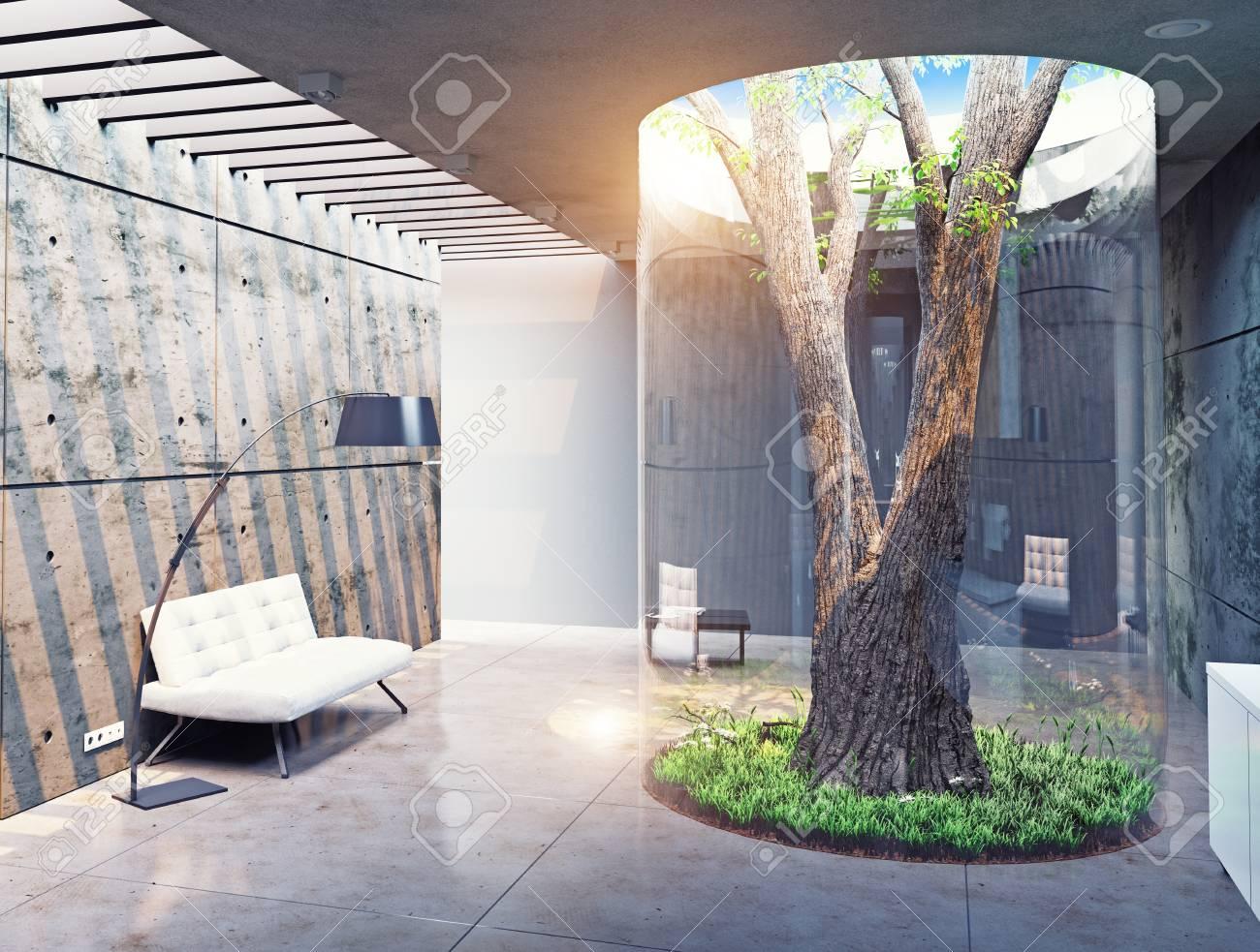 CO-conception De L\'intérieur Moderne. Véritable Arbre Intérieur ...