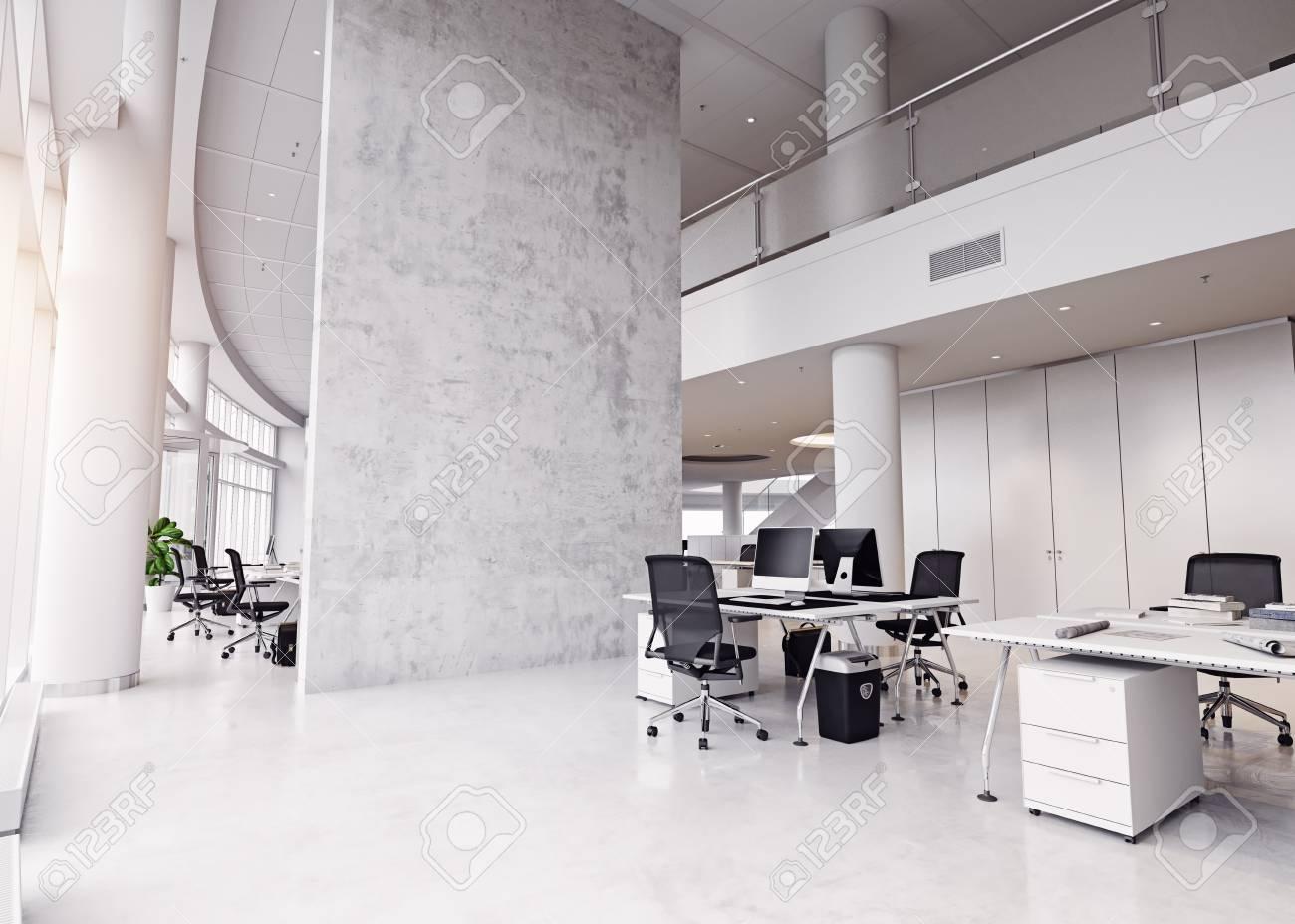 modern office building interior. 3d rendering concept - 95394438