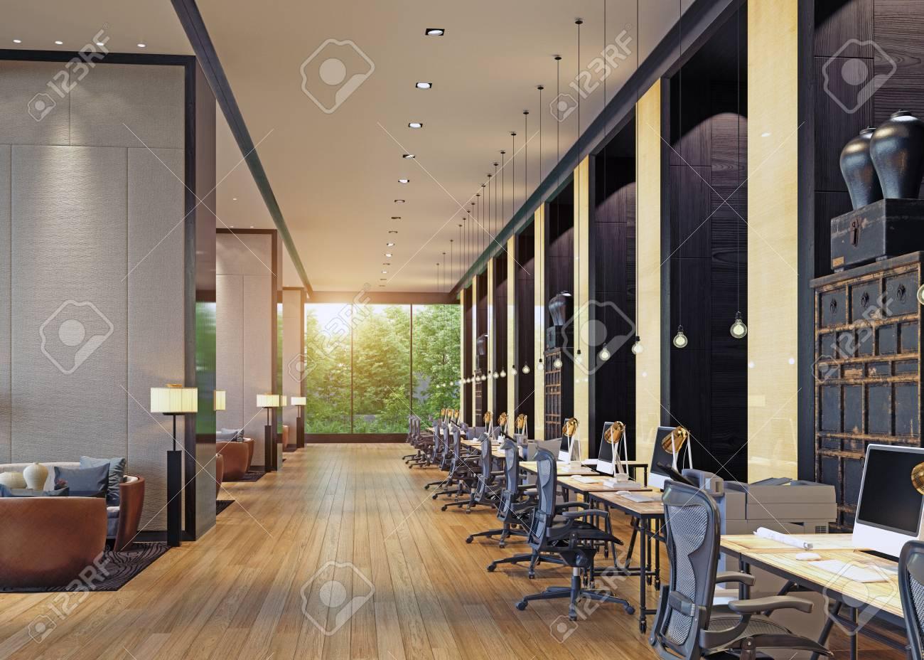 modern office interior. 3d rendering concept - 97528003