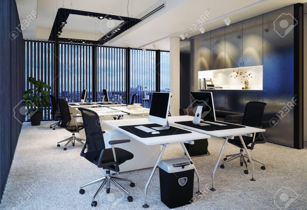 modern office interior. 3d rendering concept - 104524599