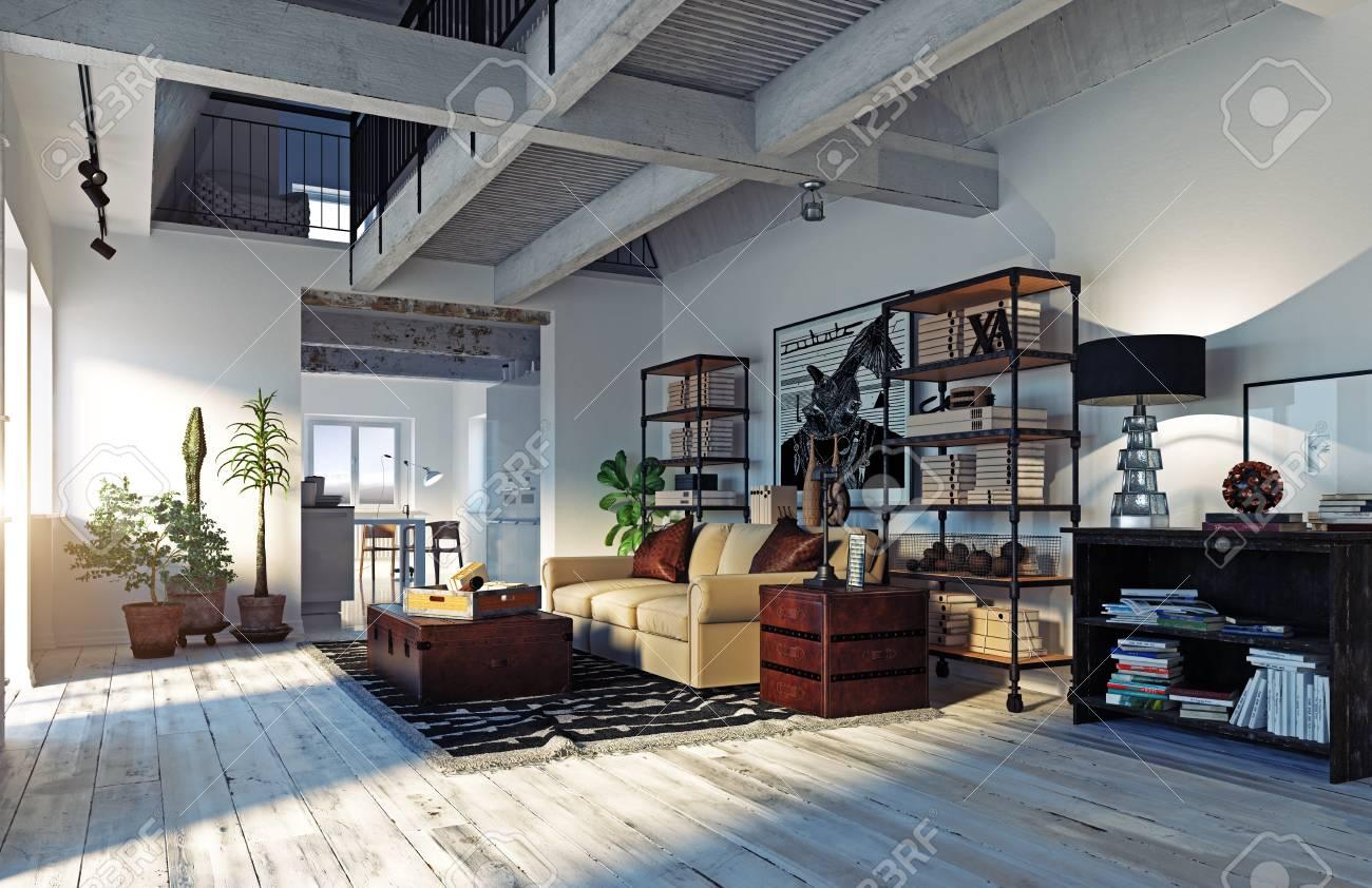 Modern Living Room Interior Living Design Style 3d Rendering