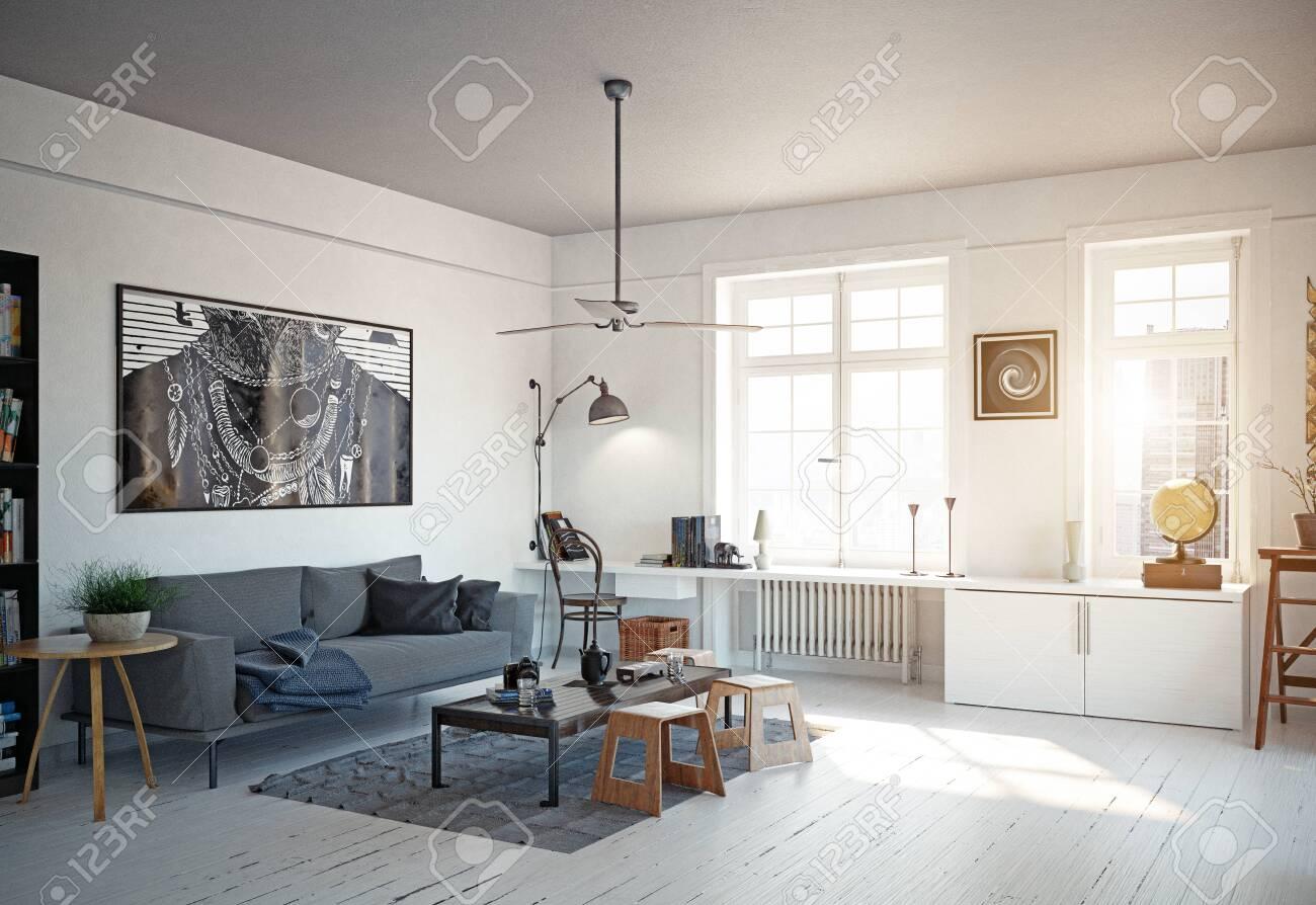 Scandinavian Living Room On Behance Living Room Scandinavian Living Room Decor Apartment Living Room Grey