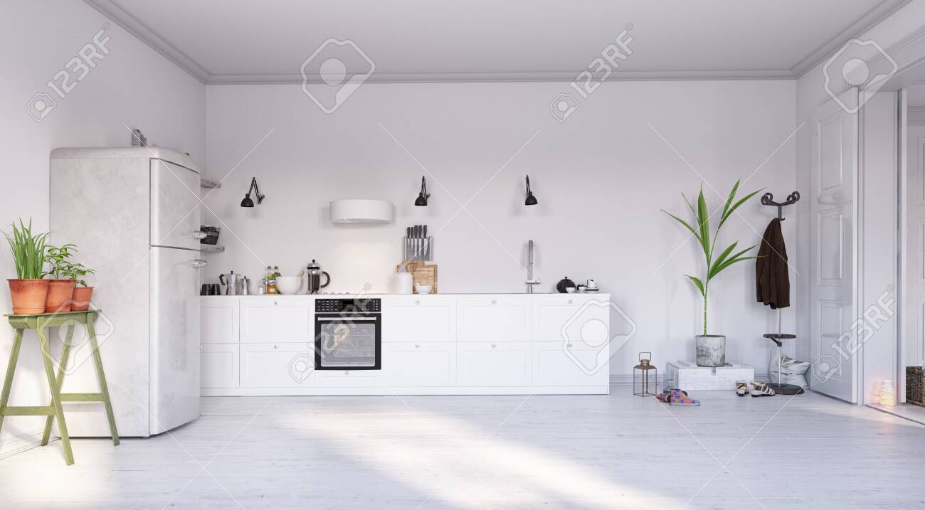 Modern Kitchen Interior Design 3d Rendering Concept Stock Photo Picture And Royalty Free Image Image 123838829