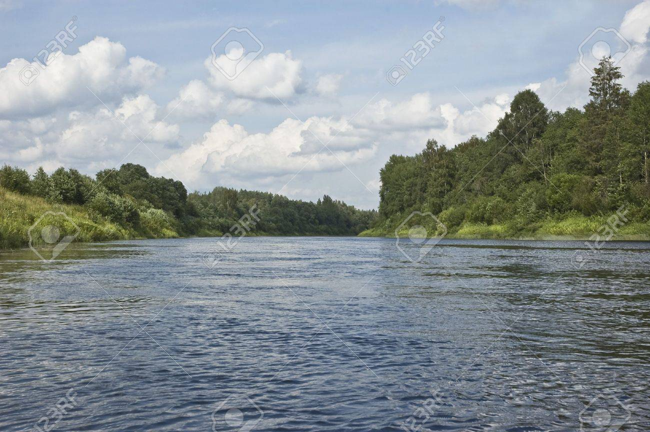 View of Onega river near Kargopol town, north Russia Stock Photo - 4664357