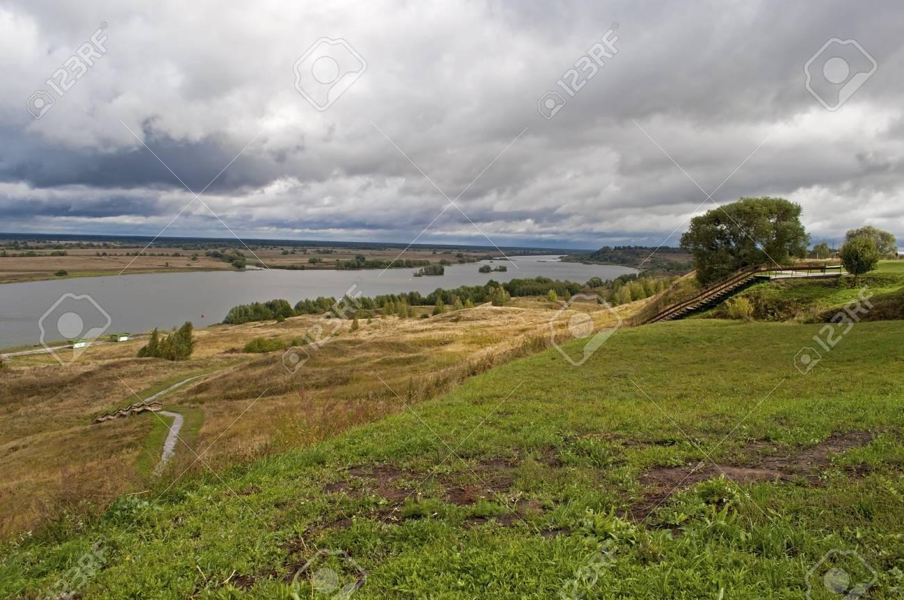 View of Oka River near the village of Konstantinovo, Ryazan region, Russia (the home of russian poet Sergei Esenin) Stock Photo - 14586736