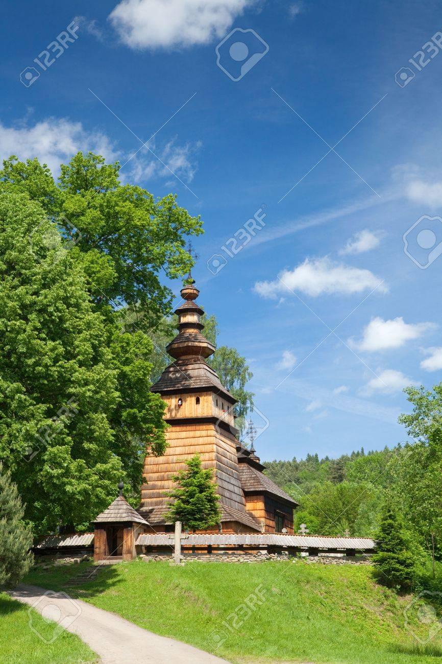 Wooden Orthodox Church in Kotan builded in XIX Century, Poland - 7126929