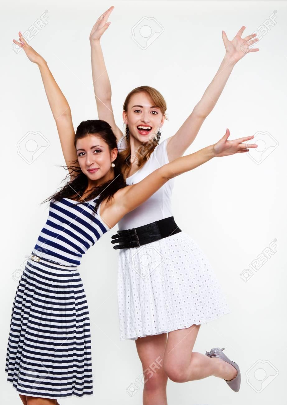 beautiful women friends happy Stock Photo - 15555370