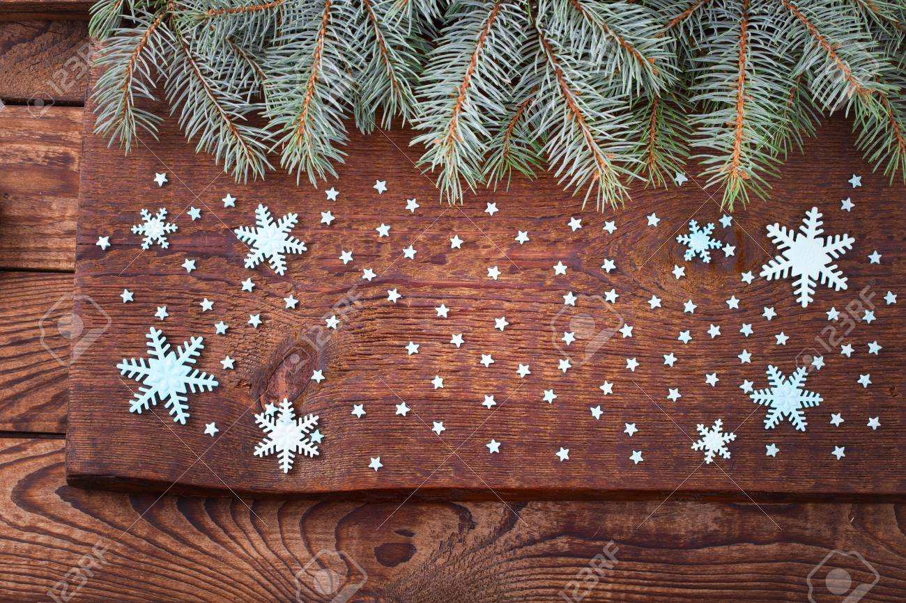 Holz Weihnachtskarten.Stock Photo