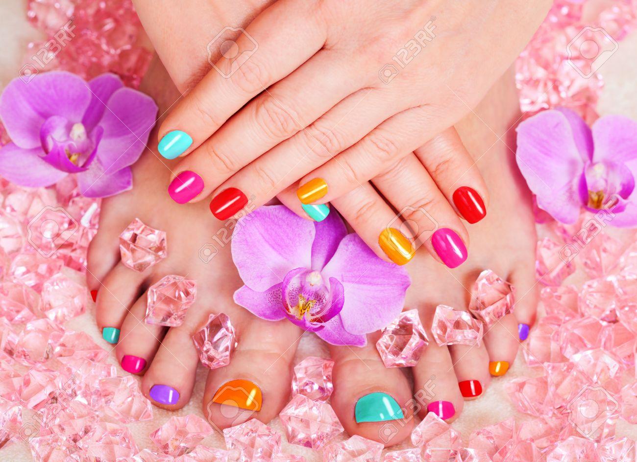 Imágenes de manicure y pedicure
