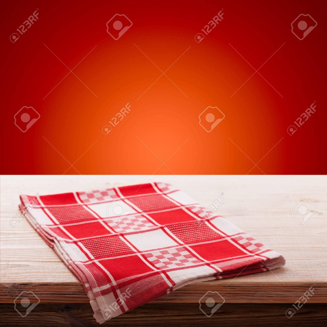 Leere Tabelle Und Tischdecke, Urlaub Auf Dem Hintergrund, Für ...