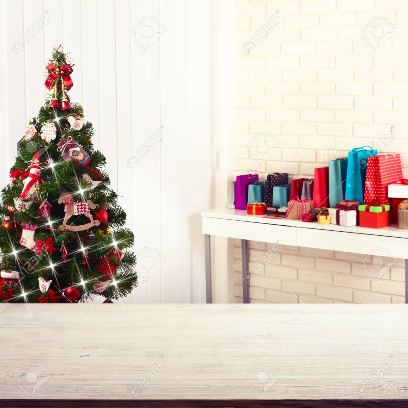Weihnachtsdekorationen. Weihnachten Hintergrund. Schöne Ferien ...