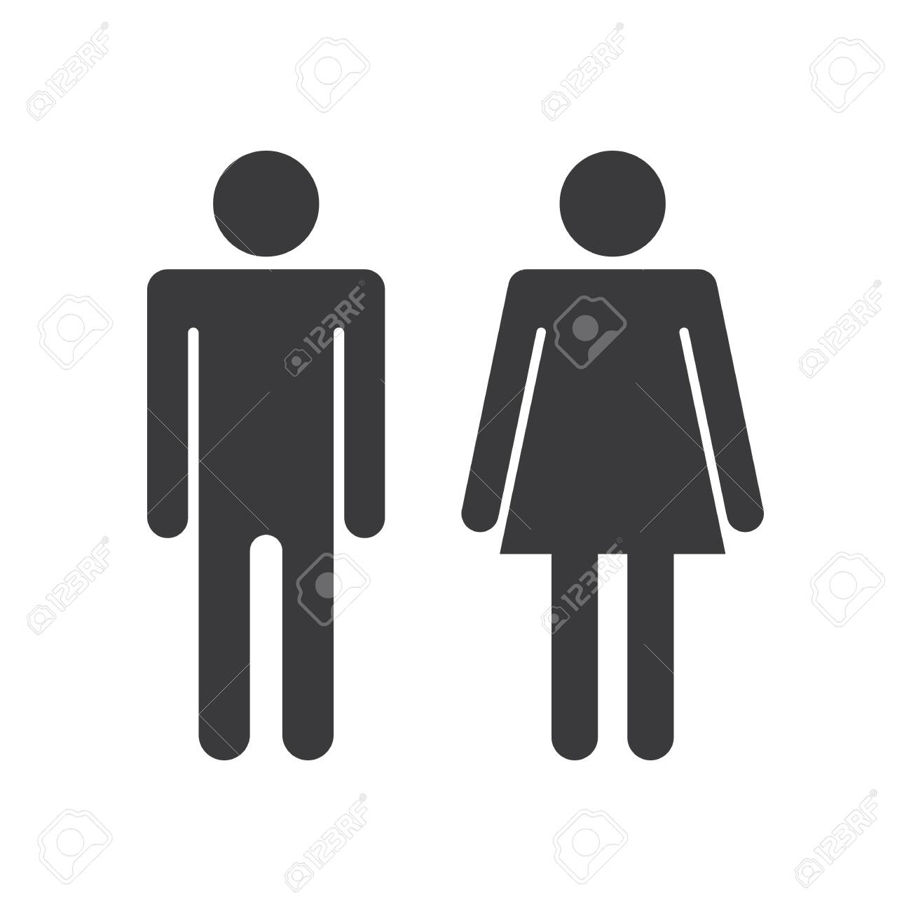 a man and a lady toilet sign - 150051072