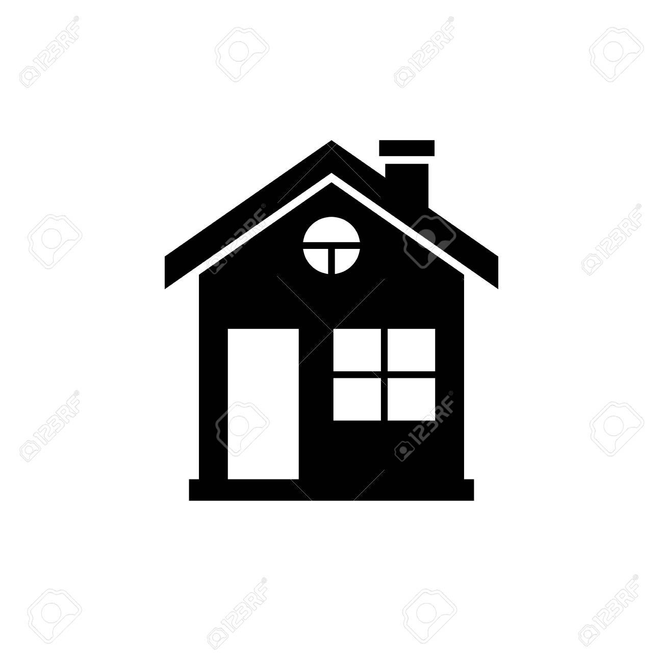 House Icon Black Minimalist Icon Isolated On White Background