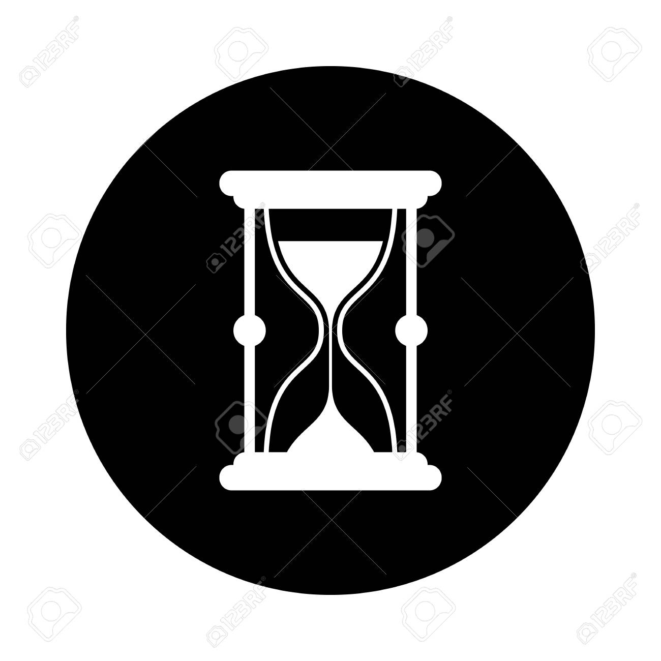 72c85b848bb Sand Watch Circle Icon. Black