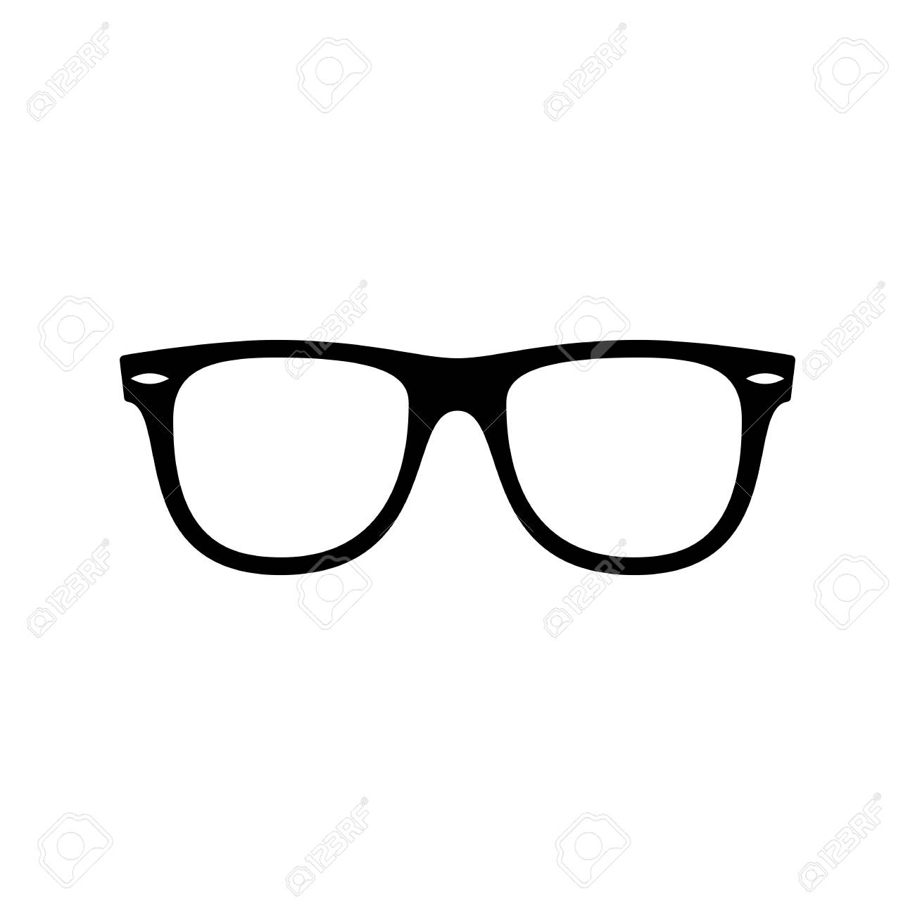 Sunglasses icon  Black, minimalist icon isolated on white background