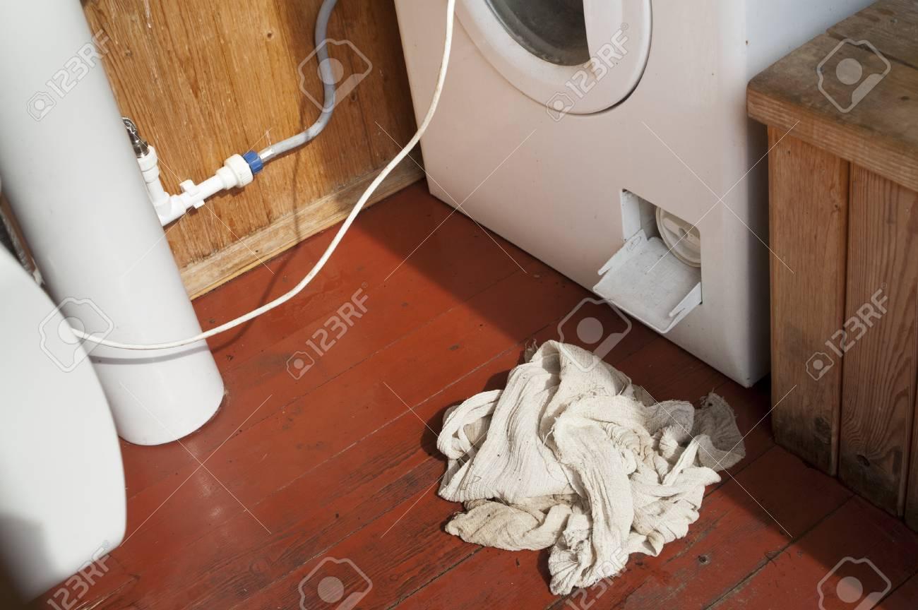 Washing Machine Leaking >> A Leaking Washing Machine And Cloth Angled Closeup Royalty Free