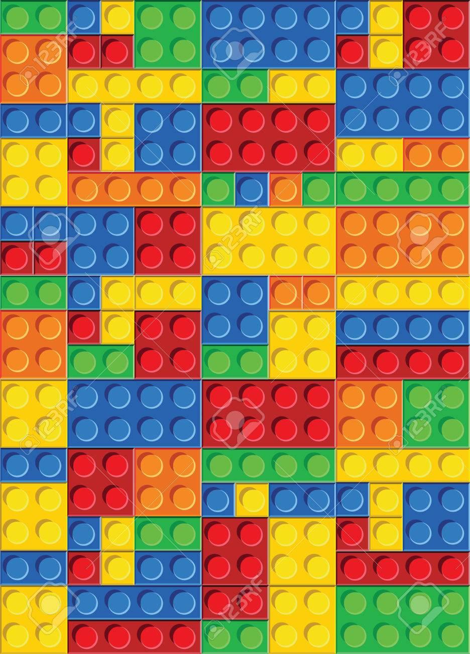 perfekte nahtlose vektor-muster von kunststoff-teile. die farben