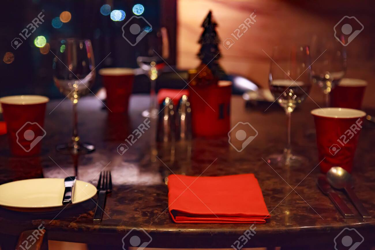 Dating At Night Romantic Dinner Table Setting In A Restaurant Stock Photo Picture And Royalty Free Image Image 141215017