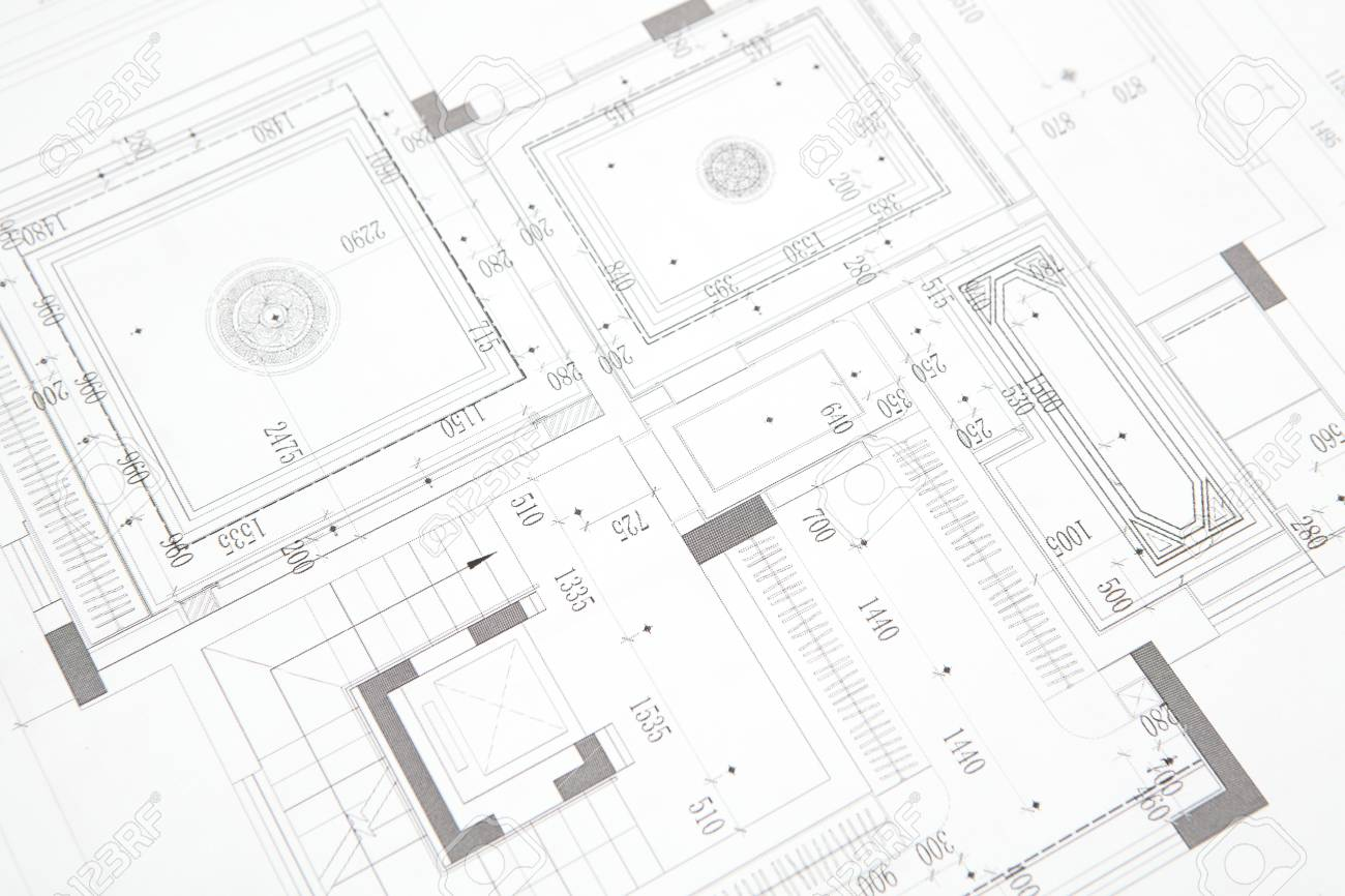 CAD indoor construction drawings