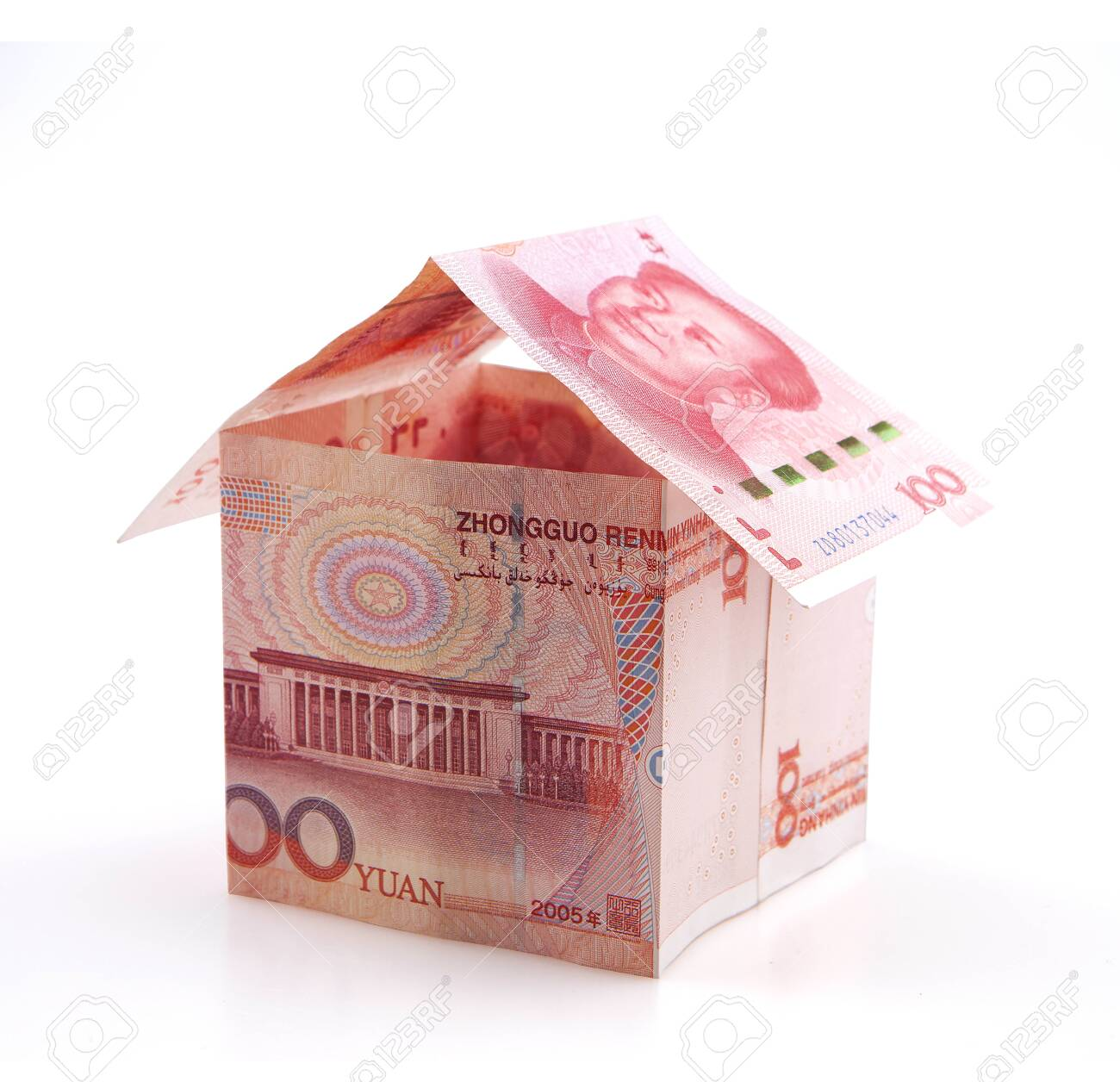 Small house of banknotes - 148147173